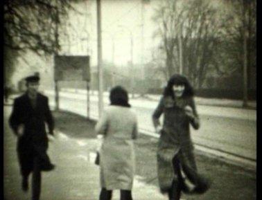 Marina Abramović, Era Milivojević, Neša Paripović, Zoran Popović u Zagrebu, februar 1972