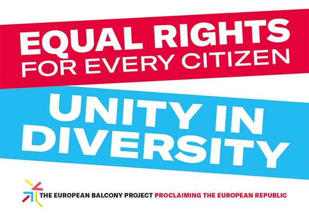 Proglašenje Evropske Republike i sa balkona Bitef teatra